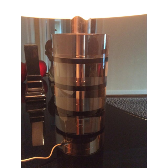 Roche Bobois Vintage Cylindrical Table Lamp Chairish