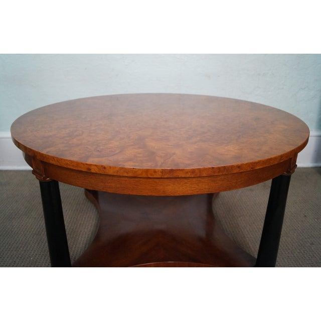 Lane Burl Wood Coffee Table: Vintage Italian Burl Wood Biedermeier Coffee Table