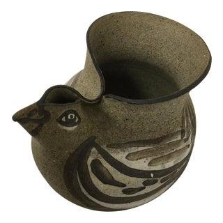 Stoneware Hand Turned Chicken Vessel