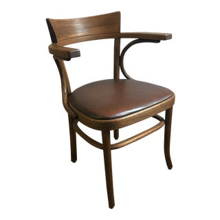 Thonet Bentwood & Leather Chair