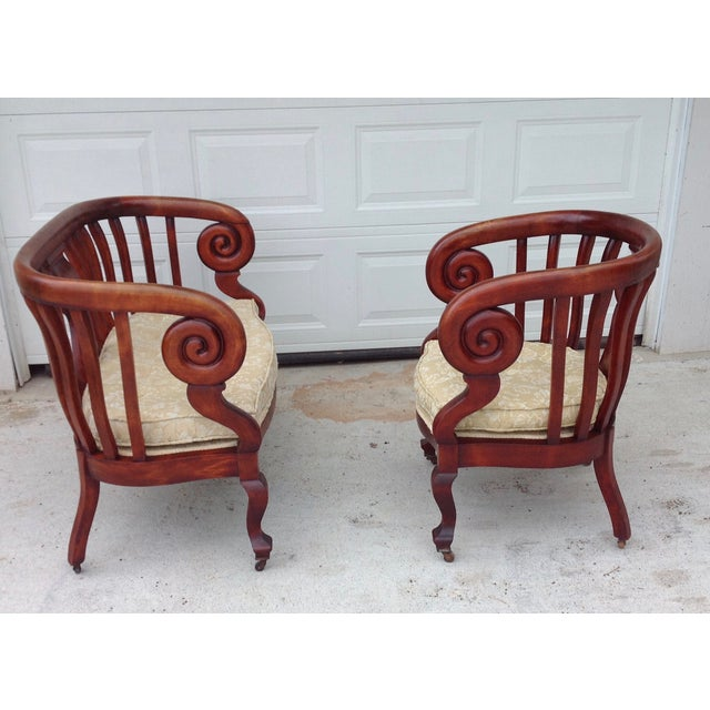 Antique Empire Spiral Loveseat & Chair Set - Image 3 of 5