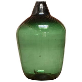 19th Century French Green Glass Demijohn