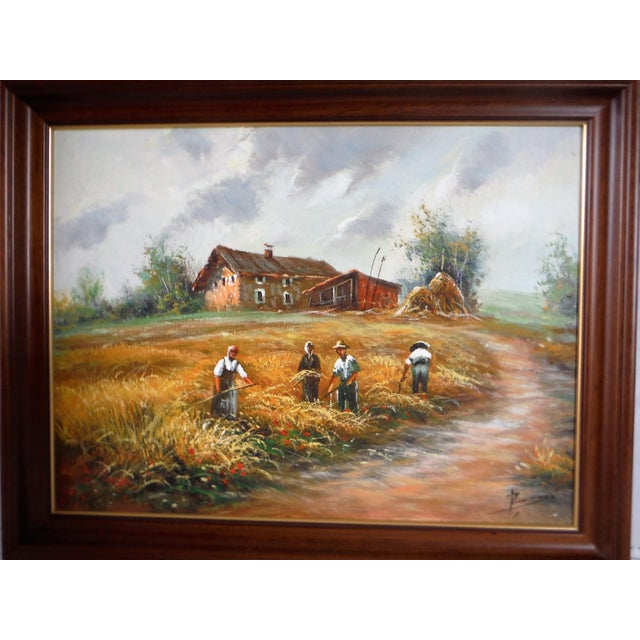 Farmhouse Harvest Original Oil on Canvas - Image 7 of 8
