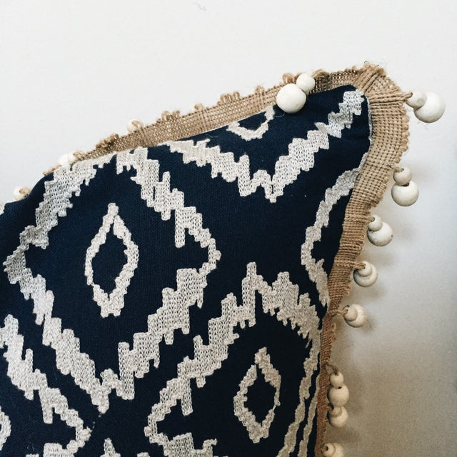 Blue Tribal Pillows - A Pair - Image 6 of 6
