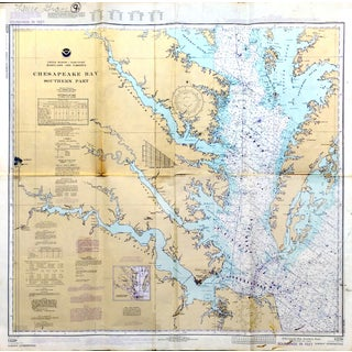 1977 Chesapeake Bay Nautical Chart