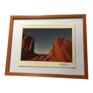 Vintage Framed Western Desert Canyon Print by Bob Clayton