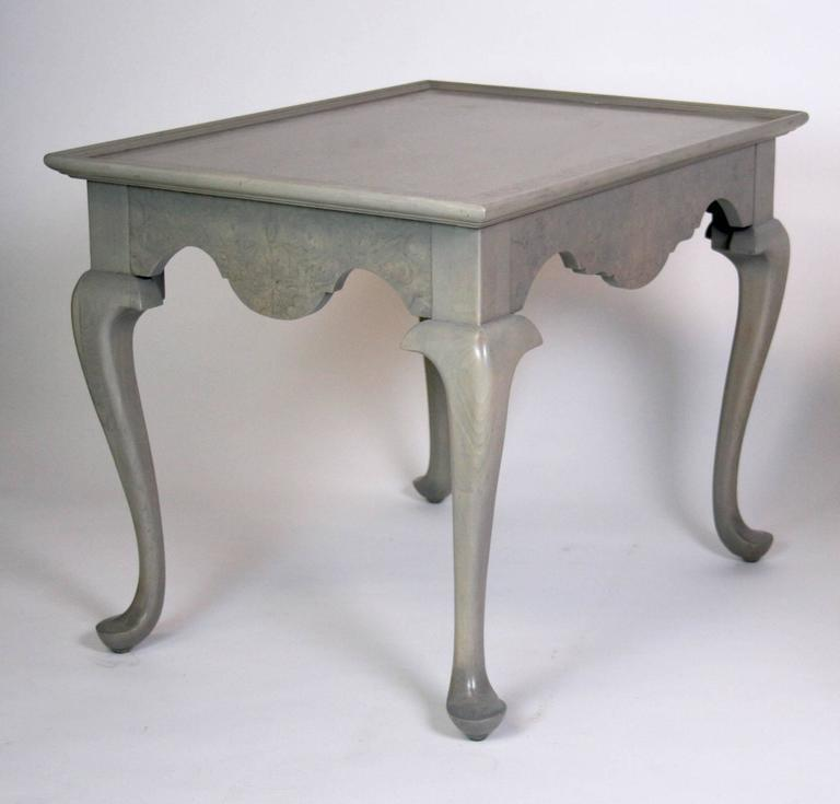 Grey Stained Queen Anne Style Side Tables   A Pair   Image 3 Of 7