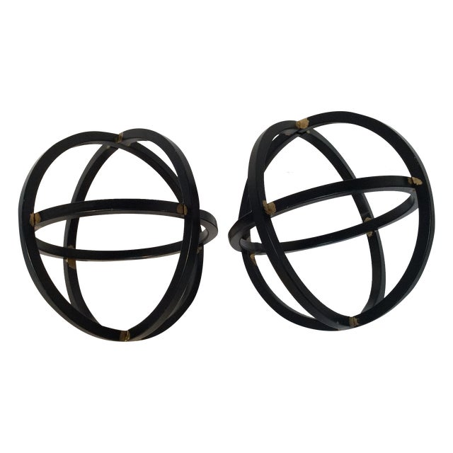 Image of Black Metal Orbs - Pair