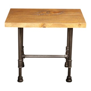 Vintage Industrial Cast Iron, Steel & Wood Rustic Custom Kitchen Table - Stand