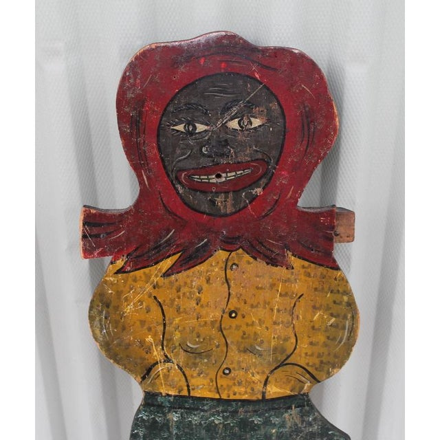 Large Handmade Folk Art Mammy Carnival Art - Image 2 of 5