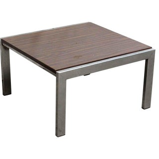 Wood Coffee Table with Steel Base