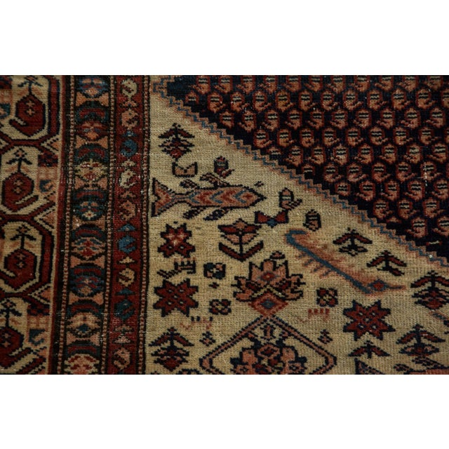 """Vintage Mission Malayer Square Rug - 5'5"""" x 6'7"""" - Image 4 of 10"""