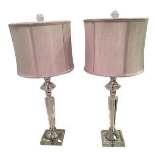 Ralph Lauren Crystal Table Lamps - A Pair