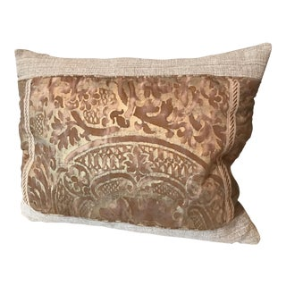 Antique Gold Fortuny Pillow