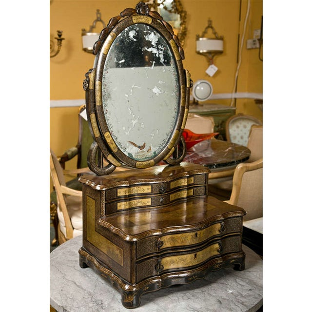 19th C. Oriental Vanity Table Mirror - Image 10 of 10