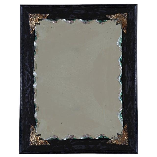 Ebonized Oak Frame Mirror - Image 1 of 3