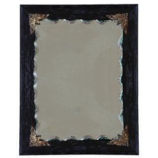 Ebonized Oak Frame Mirror