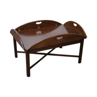 Hickory Chippendale Style Butler's Coffee Table