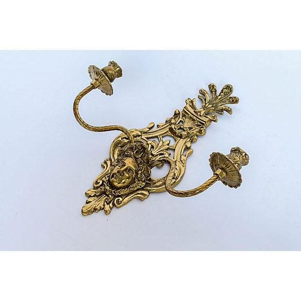 2-Arm Art Nouveau Candle Wall Sconce - Image 4 of 5