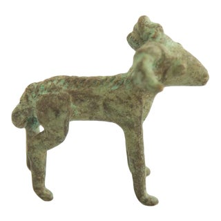 Vintage African Bronze Ram Casting