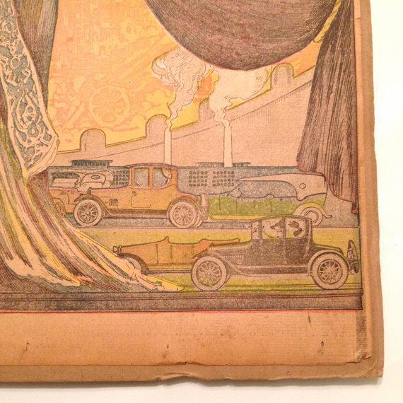 Antique San Francisco Examiner Auto Show Print - Image 6 of 6