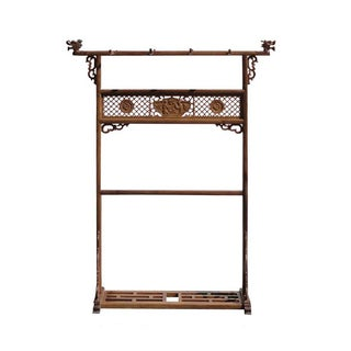 Chinese Rosewood Dragon Garment Rack Hanger