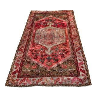 "Vintage Persian Zanjan Rug - 4' x 7'1"""