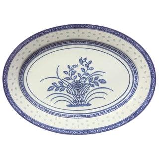 Vintage Blue & White Porcelain Platter
