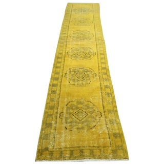 "Oushak Yellow Overdyed Runner - 2'6"" x 11'4"""