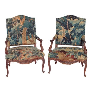 Pair of Period Louis XV Fauteuils