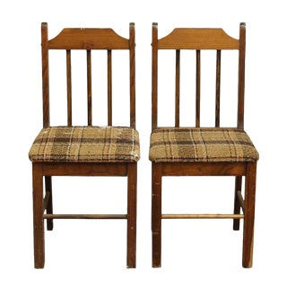 Simple Bannister Chairs - A Pair