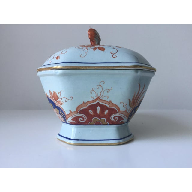 Italian Faience Hand-Painted Imari Tureen - Image 4 of 9