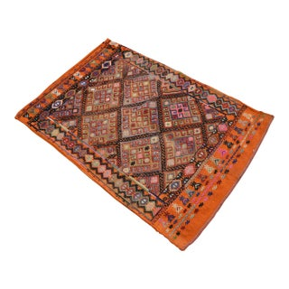 Antique Turkish Kilim Hand Woven Sack Rug - 2′8″ × 3′10″