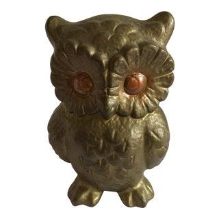 Mid-Century Ceramic Gold Owl