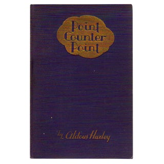 """Aldous Huxley's Point Counter Point"" Hardcover Book"