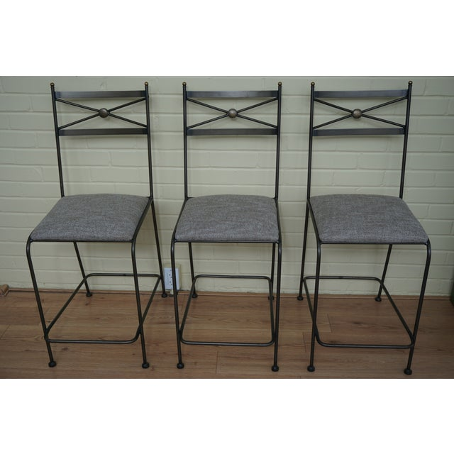 Image of Pair of Luxury Hand Forged Counter Stools