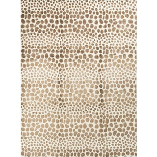 "Contemporary Safari Print Wool Rug - 9'2"" x 12'3"""