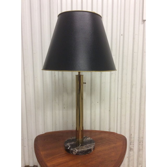 Walter Von Nessen Brass & Marble Table Lamp - Image 2 of 8