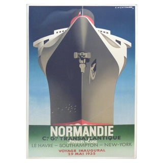 French Normandie Inaugural Poster