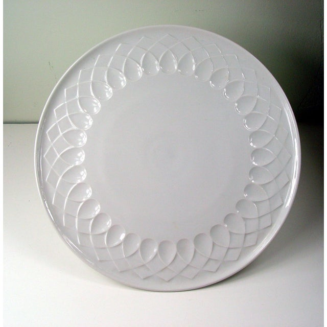 White Porcelain Serving Plate - Image 2 of 4