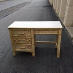 Image of Henry Link Faux Bamboo & Rattan Desk