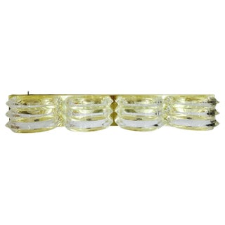 Brass & Acrylic Deco Style Wall Sconce