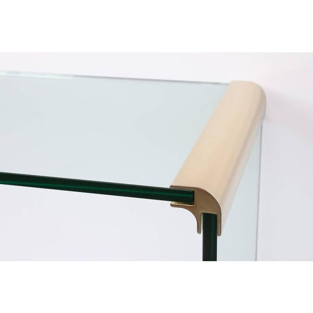 Leon Rosen for Pace Waterfall Console Table-Pair Available - Image 3 of 6
