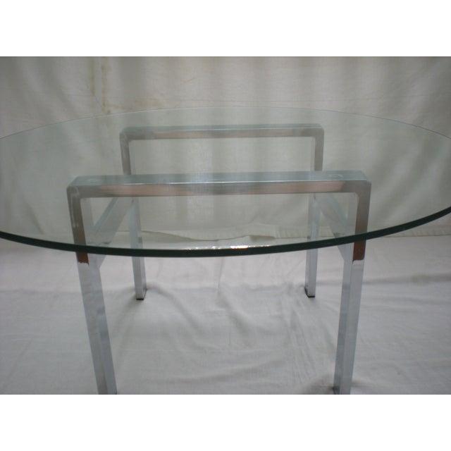 Milo Baughman Chrome Coffee Table: Milo Baughman Chrome & Glass Coffee Table