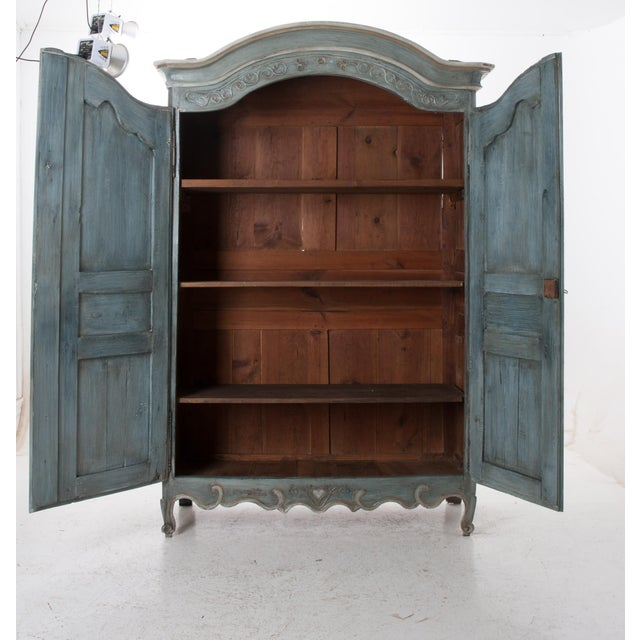 French Early 19th Century Painted Cherry Armoire - Image 7 of 10