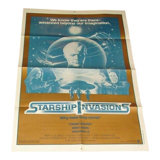 Vintage Movie Poster Starship Invasions 1977