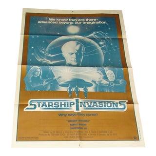 Vintage Movie Poster Starship Invasions 1977