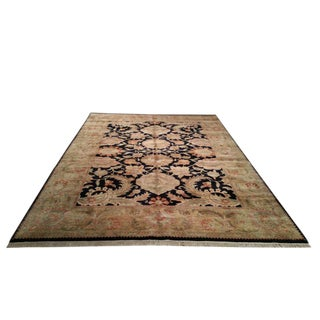 Traditional Handmade Knotted Rug - 9x12