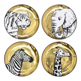Jonathn Adler Animalia Coasters - Set of 4