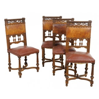 Renaissance Revival Dining Chairs - Set of 4